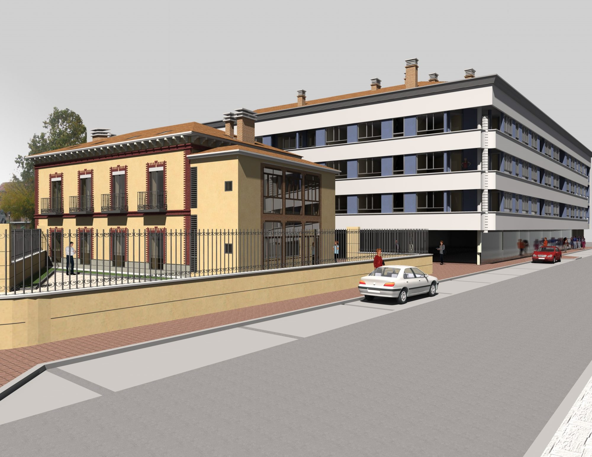 Cooperativa Isabel de Portugal (Arévalo). Vista fachada.